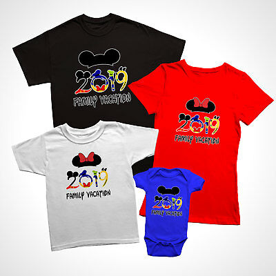Disney Family Vacation 2019, New Funny Matching T-Shirts for families.