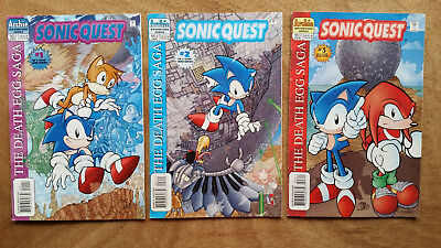 Lot of 3 Sonic Quest Comics, # 1, 2 and 3 - The Death Egg Saga