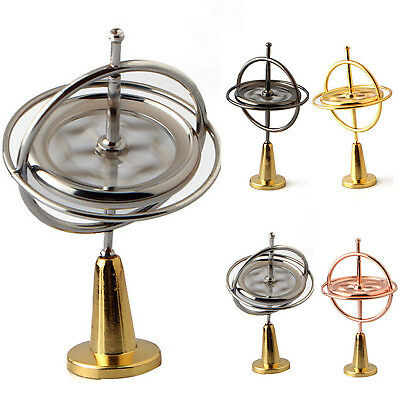 Retro Metal Gyroscope Spinning Gyroscopic Spin Educational Science Toys Gadget P