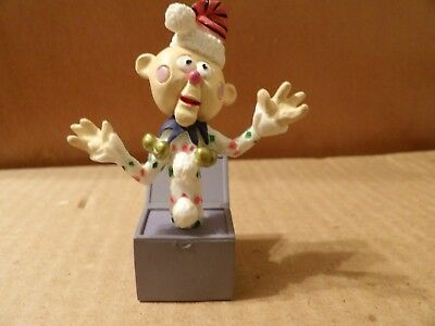 Charlie Jack in Box  figurine  Rudolph the Red Nose  Reindeer