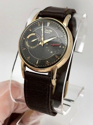 1950's Jaeger LeCoultre Futurematic ORIGINAL BLACK  DIAL AUTOMATIC BUMPER WORKS