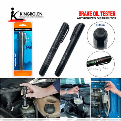 Car Brake Fluid Oil Tester Detection Pen with 5 LED indicator Auto Testing Tool_