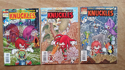 Lot of 3 Comics Sonic's Friendly Nemesis Knuckles #1, 2, and 3