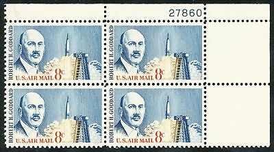 Dr Jim Stamps Us Scott C69 8C Goddard Air Mail Plate Block Og Nh No Reserve