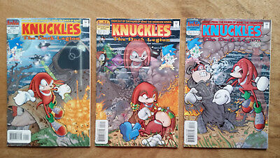 Lot of 3 Knuckles Comics, The Dark Legion, # 1, 2 and 3