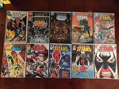DC Comics The New Teen Titans #1 2 5 11 13 14 25 28-30 Comic Book Lot