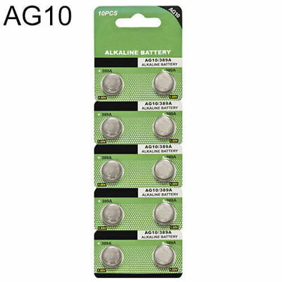 10pcs AG10 LR1130 389 LR54 L1131 189 Alkaline Button Coin Cell Battery Suncom YH