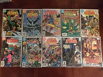 DC Comics The New Teen Titans #29 31-38 40 Comic Book Lot