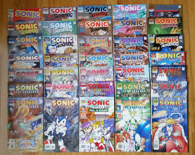 Lot of 35 Sonic the Hedgehog Comics #3, Plus - see description for entire list