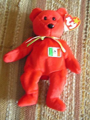 Ty Beanie Babies  Collection RED BEAR FEB. 5, 1999 (Ty Inc. Oakbrook, IL. USA)