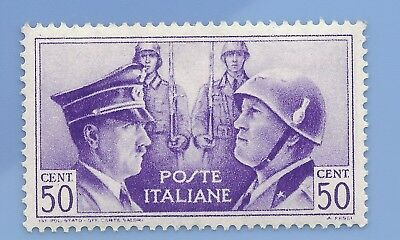 Italy Nazi Germany Axis 1941 Hitler Mussolini  50 cent stamp WW2 ERA #j