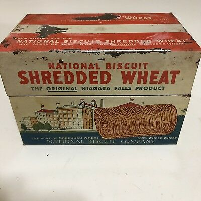1973  Tin NABISCO Shredded Wheat National Biscuit Company Recipe Box