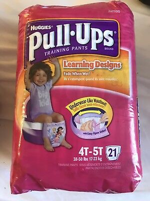 Vintage Huggies Pull-Ups Girls Size 5T From 2008 Sealed Pack Of 21 Very Rare