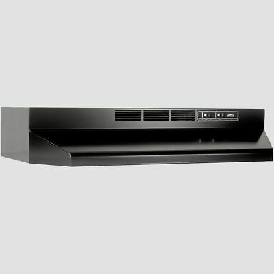 """36"""" OVER THE STOVE RANGE HOOD Black Exhaust Fan Non-Ducted Under Cabinet Kitchen"""