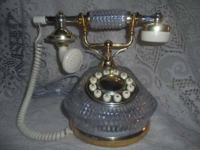 Vintage Ornate Crystal Godinger Silver Art Co.French Queen Victoria Telephone