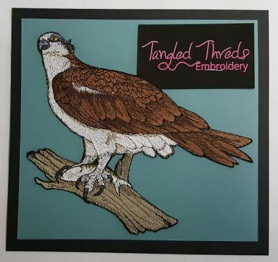 """Osprey With Fish, River Hawk, Fish Eagle, Sea Hawk Embroidered Patch 7""""x 6.2"""""""