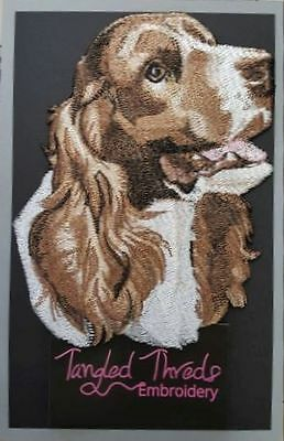 "Springer Spaniel Dog, Embroidered Patch 6.6"" x 5.2"""