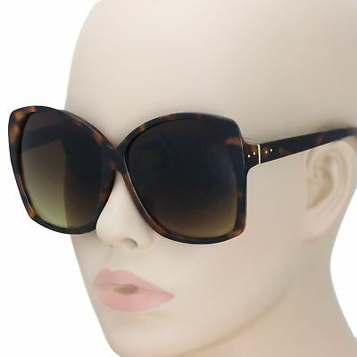 dbce3c18377 Retro Oversized XL Large Lux Glossy ELIA Square Jackie O Butterfly  Sunglasses L