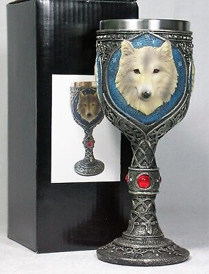 Gothic WOLF Goblet Chalice WOLFGOB S'less Steel Poly Resin outer 9319844546348