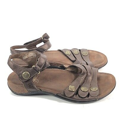5afaed95f4be Dansko Brown Bronze Leather Ankle Strap Sandals Jess Womens Size 7.5-8 38