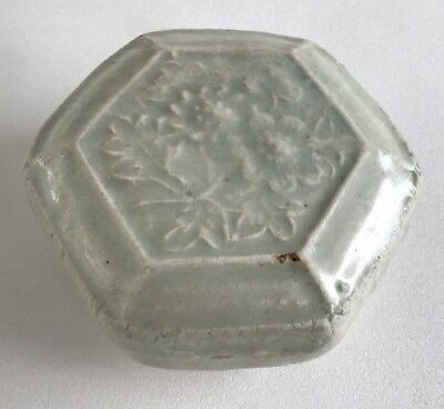Rare Chinese Yuan Dynasty 14th Century Qingbai Cover Box With Imprint Floral
