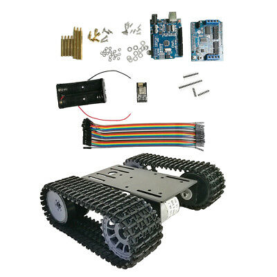 Arduino WiFi Control Robot Smart Tank Chassis Kit Car Light Shock Absorbed