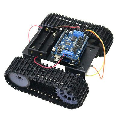 Arduino & WiFi Control Robot Smart Tank Chassis Kit Car Light Shock Absorbed