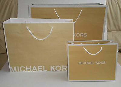 Michael Kors Paper Shopping Gift Bag Authentic 3 sizes choose Small Medium Large