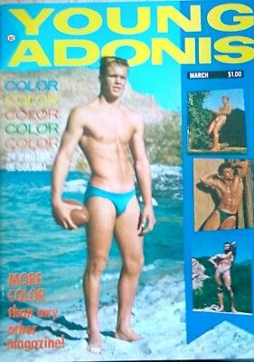 Vintage Gay interest magazine Young Adonis March 1963 not a reprint