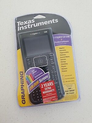 Texas Instruments ti-nspire CX CAS Graphic Calculator with USB charging cable