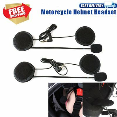 V4 V6 Wired Motorcycle Bluetooth Helmet Headset Intercom Speaker interphone A1