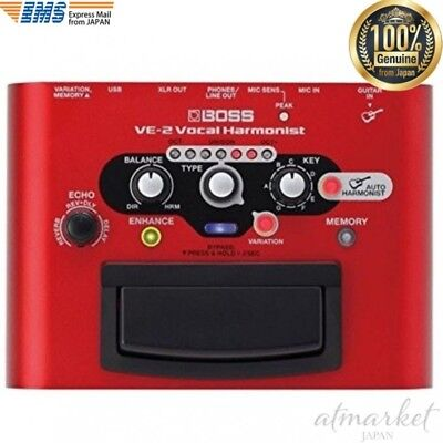 BOSS Pedal effect VE-2 Vocal Harmonist Red High-quality reverb delay from JAPAN