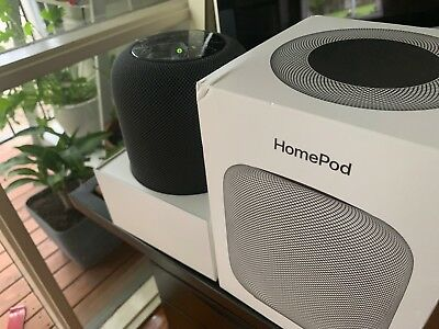 Apple Homepod Smart Wi-Fi Speaker - Space Grey - (OPENED/NEVER USED) - RRP $499!