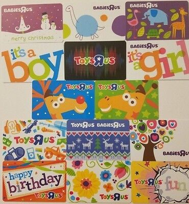 New Toys R Us Gift Card Lot (14) Collectible Geoffrey Memorabilia 2018 Rare TRU