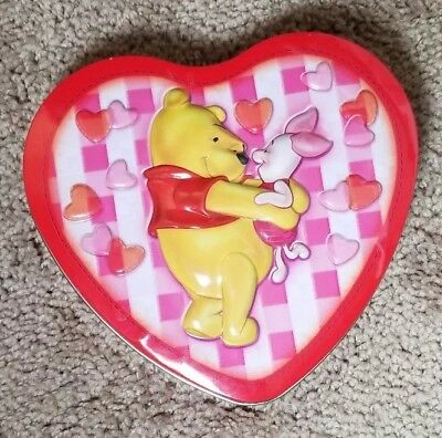 Winnie The Pooh Tigger Too Valentine Birthday Heart Tin Box Container Canister