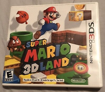 Super Mario 3D Land For Nintendo 3DS - Complete With Original Case And Manual
