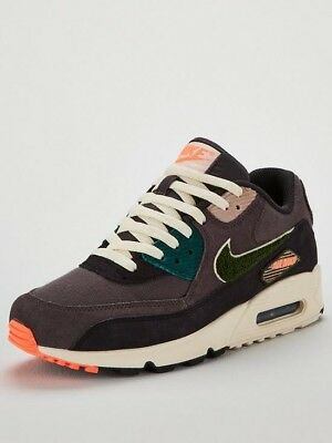 NIKE AIR MAX 90 Premium Se Trainers Oil Grey Rainforest Uk 9 With Box