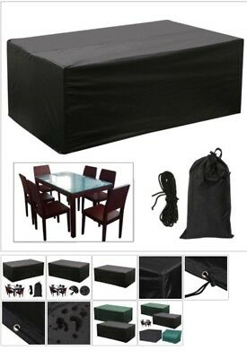 Waterproof Rectangular Garden Patio Furniture Cover Covers Table Bench Outdoors