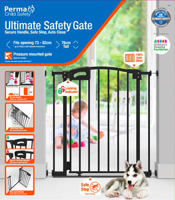 Perma Child Safety Gate + two 10cm extensions (for child, infant, baby)