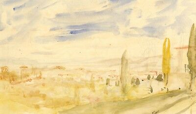 Vernon Wethered, View of Florence - Original early 20th-century watercolour