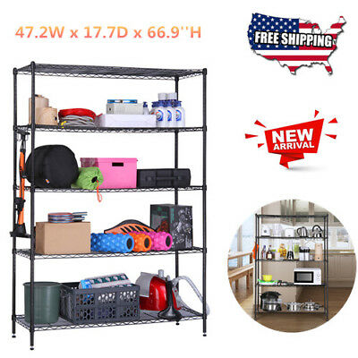 5-Tier Heavy Duty Extra Large Shelving Unit Shoes Rack Home Organizer Storage