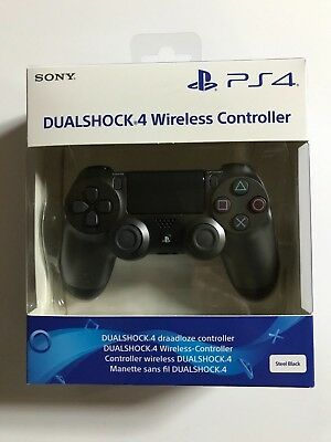 SONY PS4 original CONTROLLER – steel black – wireless Dualshock 4 V2 – NEU OVP