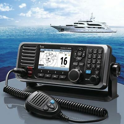Icom M605 Fixed Mount 25W VHF w/Color Display & Rear Mic Connector ( M605 11)