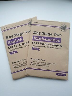 Brand New For 2019 Ks2 Maths & English Cgp Sats Practice Papers Bundle - Pack 3
