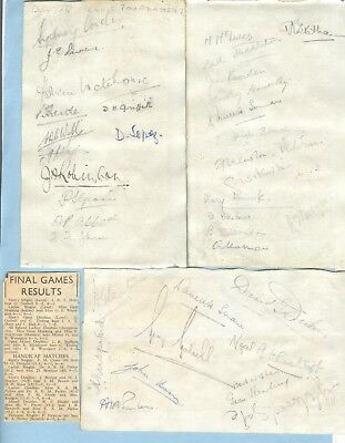 TENNIS PLAYERS HAND-SIGNED ALBUM PAGES - 1950's > LOPEZ, STATHAM, HOAHING etc