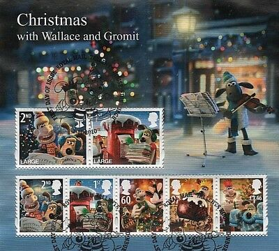 GB Stamps 2010 'Christmas with Wallace and Gromit' MS3135 - Fine used