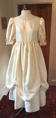 Girl'S/teens Vintage 1980'S Victorian Style Cream Bridesmaid/party Dress