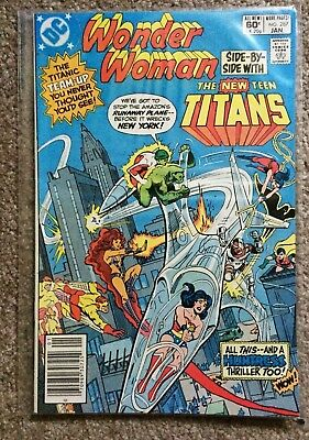 WONDER WOMAN 287 (New Teen Titans, Don Heck art, last eagle costume, Huntress)