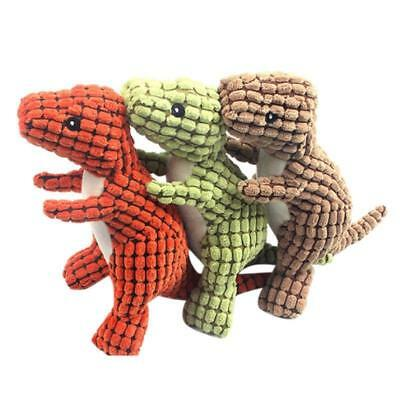 Pet Dinosaur Shape Plush Chew Molar Squeaky Toys for Dogs Puppy Toys to Clean th