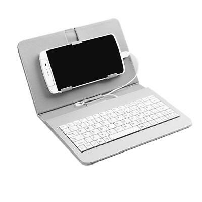 Portable PU Leather Wireless Keyboard Case Protective with Phone Clip Case Holde